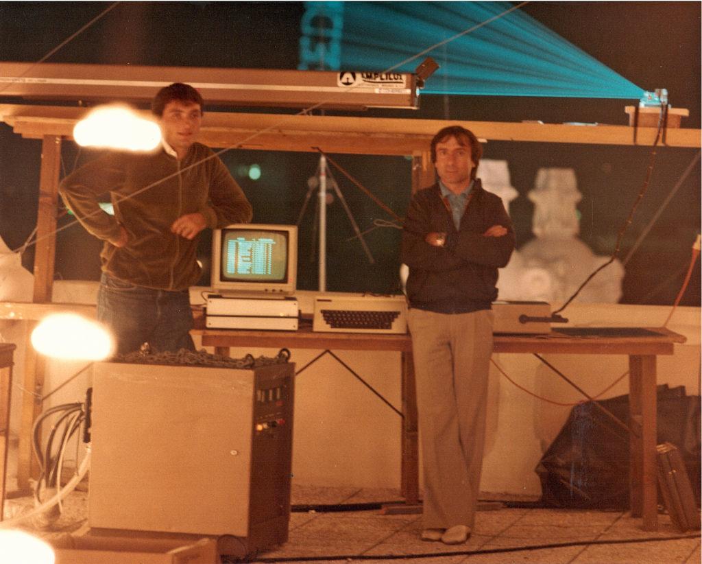 Luciano Leardini in regia laser